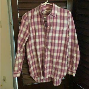 Madewell plaid shirt. Small